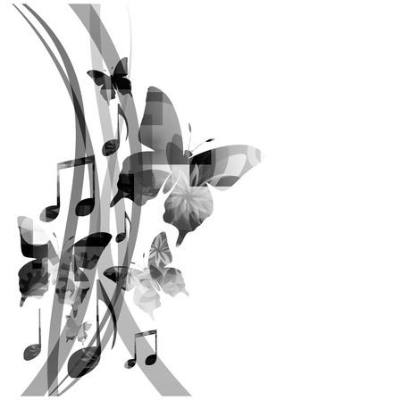 music and butterflies - hope