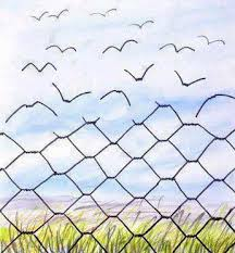cartoon fence turning into birds flying away - therapy