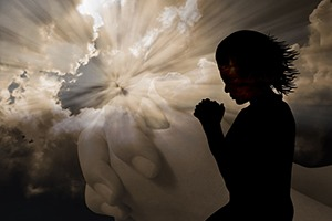 praying with clouds - spiritual focused therapy